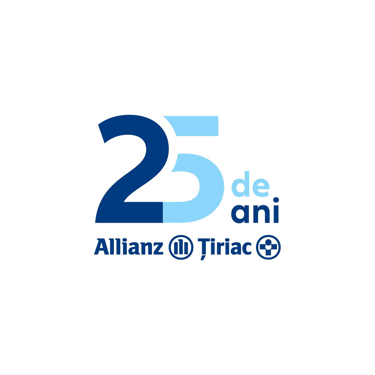 Logo Allianz Tiriac partener Maratonul Vinului